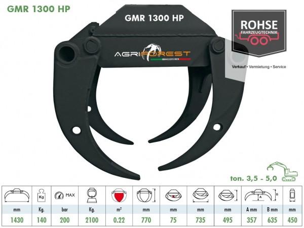Holzgreifer GMR1300HP/ 1430mm